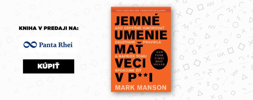 netradičná kniha o živote od Marka Mansona - Jemné umenie mať veci v paži