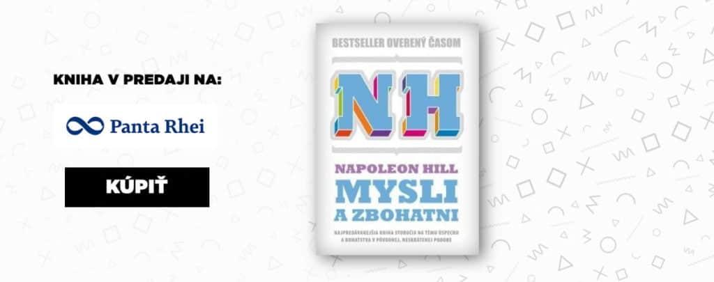 Najlepšia motivačná kniha Napoleon Hill - Mysli a zbohatni