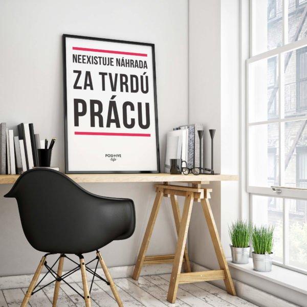 Motivačný plagát - Tvrdá práca 2
