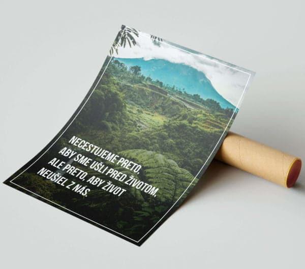 Motivačný plagát - Cestovanie 2