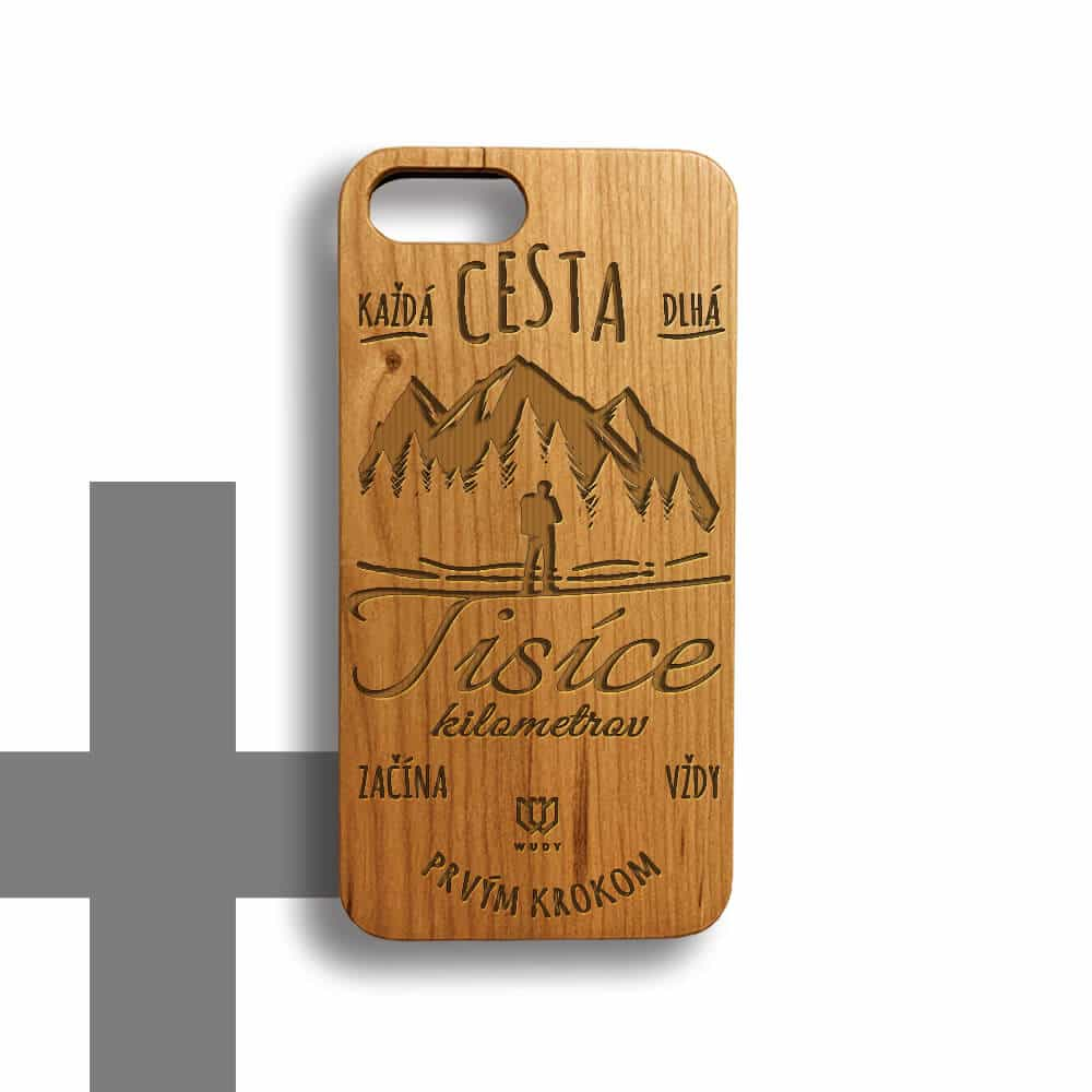 Unikátny drevený kryt na iPhone