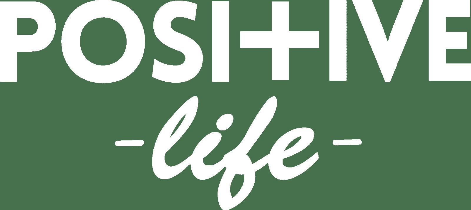 Positive Life Logo White