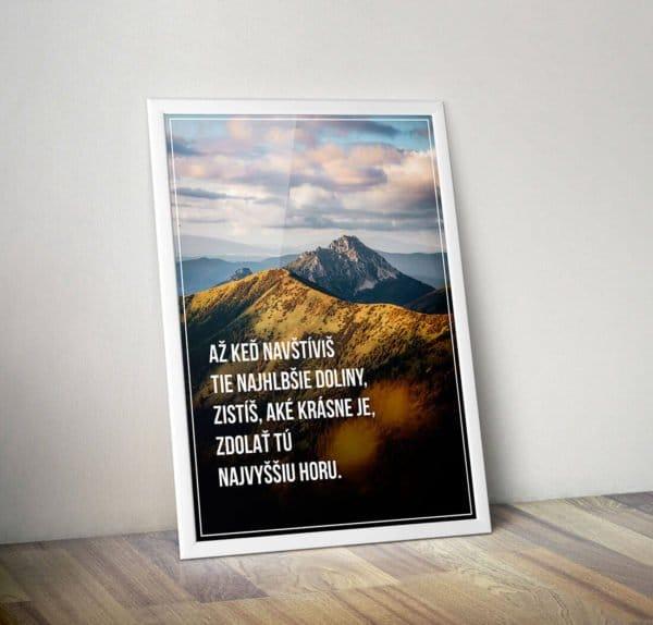 Motivačný plagát Vrchol hory