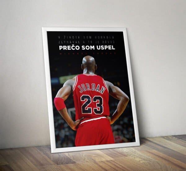 Motivačný plagát Michael Jordan s inšpiratívnym citátom