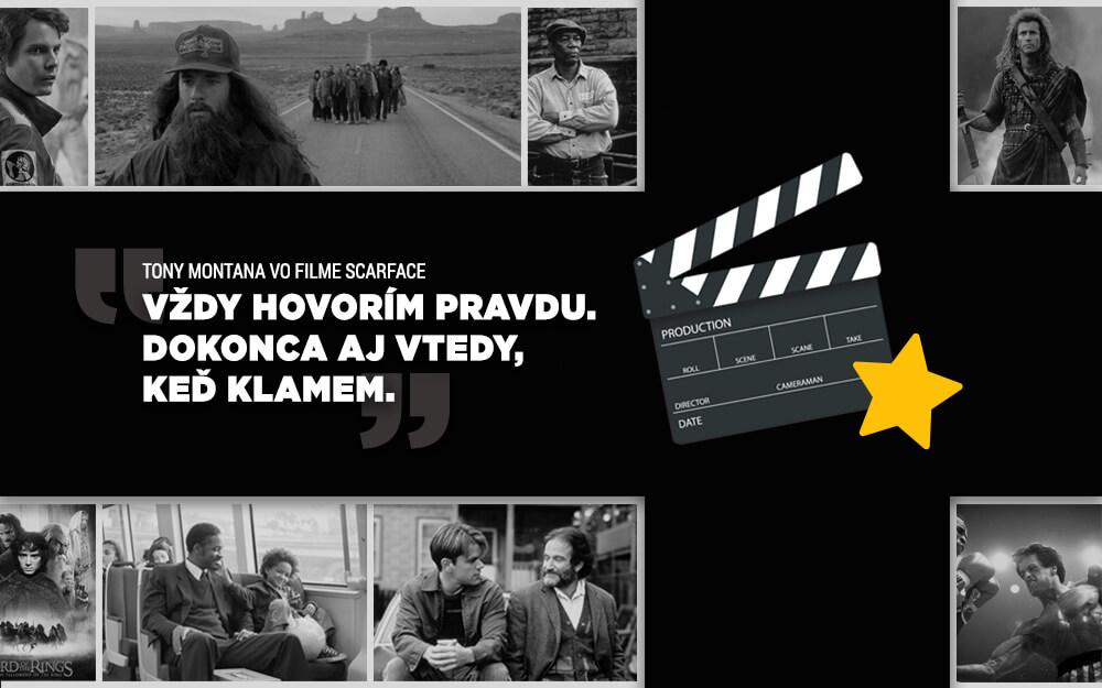 Pripravili sme zoznam legendárnych motivačných filmových citátov, ktorých autormi sú naše obľúbené postavy zo strieborného plátna.