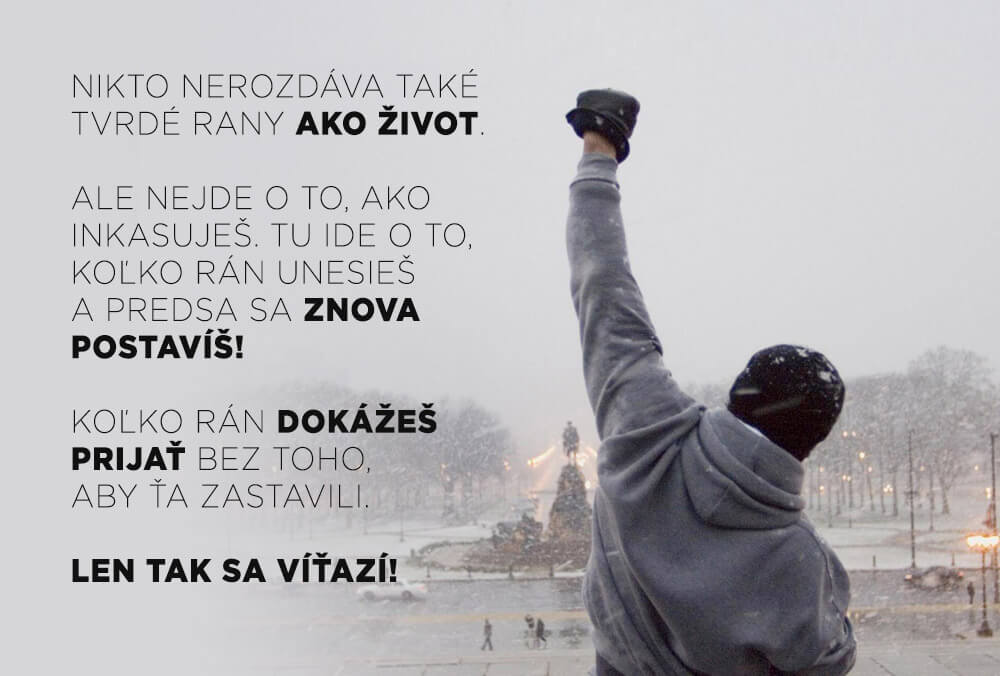 Medzi najlepšie motivačné filmy nemožno nezaradiť filmy zo série Rocky