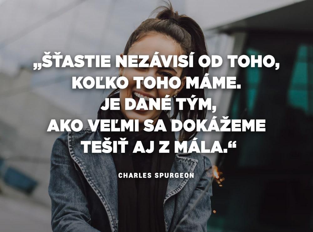 Citáty o šťastí - Charles Spurgeon