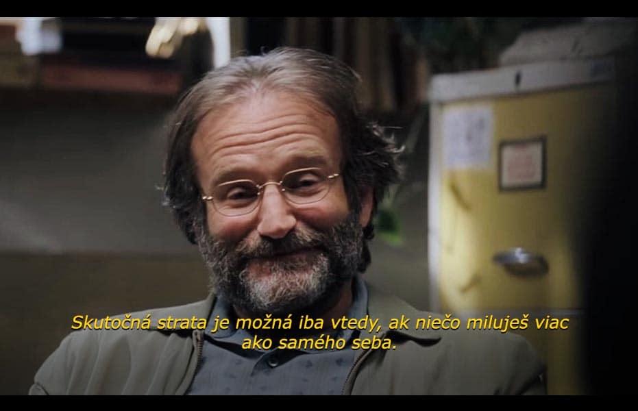 Zosnulý herec Robin Williams a jedna z jeho nezabudnuteľných filmových hlášok z filmu Good Will Hunting