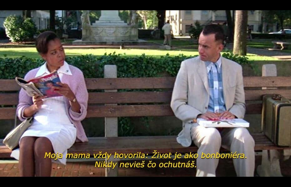 Medzi najznámejšie citáty z filmov zaraďujeme legendárnu hlášku s bonbonierou od Forresta Gumpa